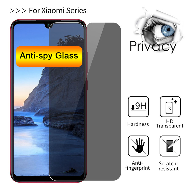 Anti-spy Protective Glass for <font><b>Xiaomi</b></font> <font><b>Mi</b></font> 9T Pro <font><b>Screen</b></font> <font><b>Protector</b></font> for <font><b>Mi</b></font> 6 Play Pocophone F1 Tempered Glass for <font><b>Mi</b></font> 8 SE Lite image