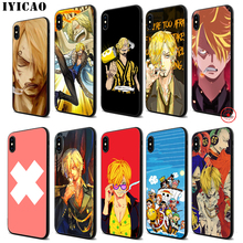 IYICAO One Piece Vinsmoke Sanji High Soft Black Silicone Case for iPhone 11 Pro Xr Xs Max X or 10 8 7 6 6S Plus 5 5S SE