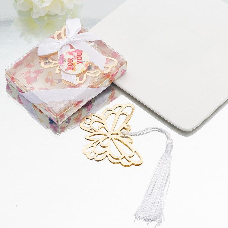 1 шт. Творческий металлическая Закладка с бабочкой свадебные сувениры для первого причастия для маленьких девочек душ День рождения подаро...
