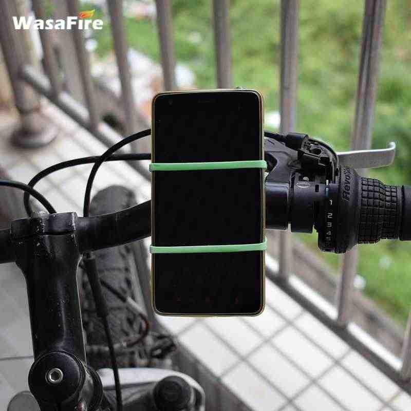 Stang Tali Silikon Sepeda Depan Lampu Pemegang Ponsel Memperbaiki Dasi Elastis Tali Siklus Bicicleta Senter Perban