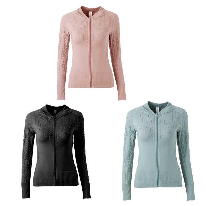 Зимние куртки, пальто, женская одежда для фитнеса, куртка на молнии для бега, спортивная одежда для женщин, топы для спортзала, спортивная одежда