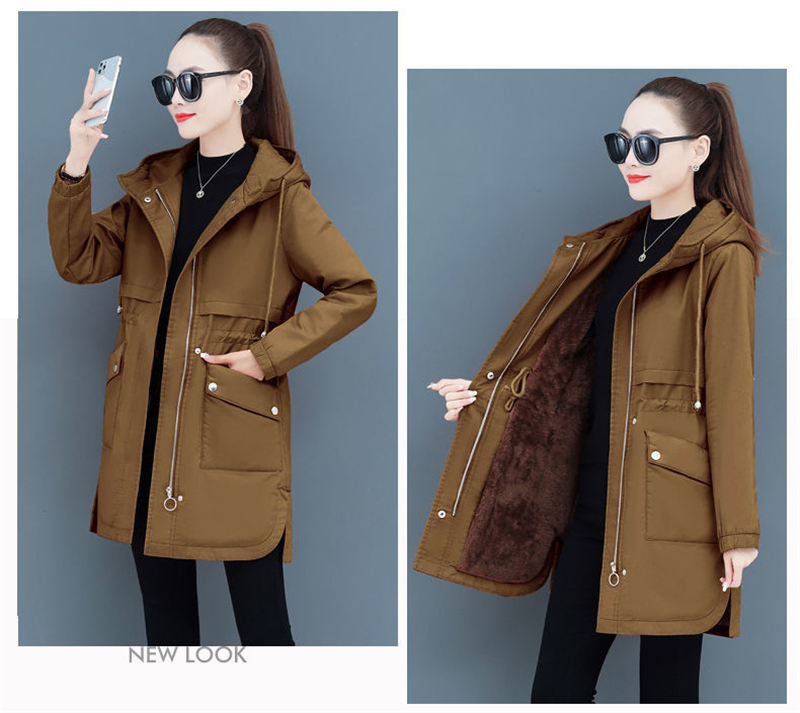 Hc715eff96e3342659dfca5498cccbcfam NEW2021 Women Parkas Fashion Coat Elegant Winter Mid Long Cotton Jacket Plus velvet thickening Hooded Collar Female Snow Outwear