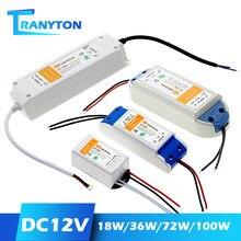 18W 36W 72W 100W alimentation LED alimentation DC12V pilote haute qualité transformateurs d'éclairage pour LED bande lumières 12V adaptateur d'alimentation