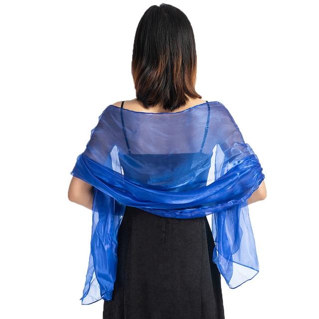 Silk Satin Elegant Wrap Scarf Stole Shawl Womens Bridesmaid Bridal Evenings Wear