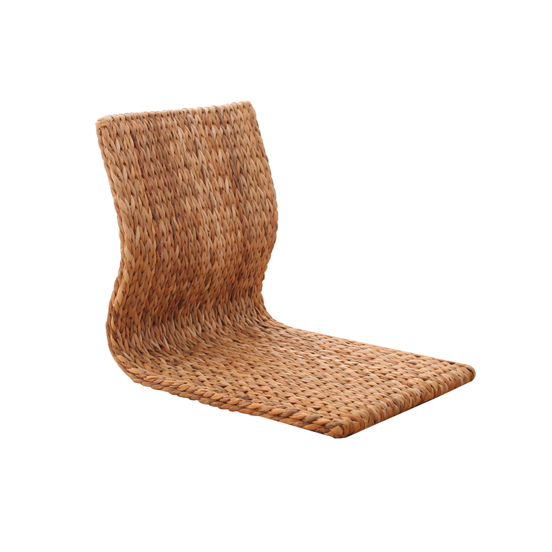 Straw Tatami Chair Computer Chair Living Room Balcony Bay Window Bedroom Back Chair And Room Legless Chair Single Chair