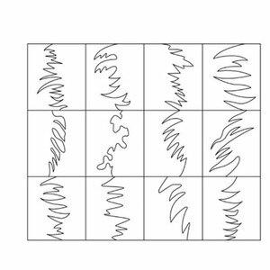 Image 5 - Plantilla de vinilos de uñas con 2 hojas, pegatinas huecas, plantilla de manicura calcomanías para decoración de Arte de uñas