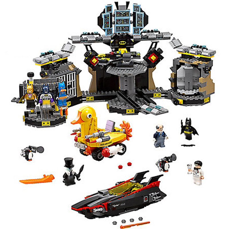70909 1807Pcs Batman Movie Lepinblock Marvel Series The Batcave Break-in Building Blocks Bricks Education Toys Gift 10636