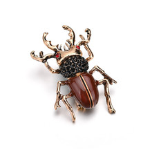 New Fashion Crystal Brooch Pin Insect Brooches Red Eyes Exquisite Enamel Pins Wedding Jewelry Best Gifts наркотики belgium coke insect pins