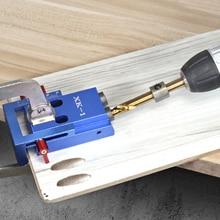 Buraco oblíquo localizador buraco bolso gabarito com passo broca & acessórios carpintaria punch locator diy ferramentas para trabalhar madeira