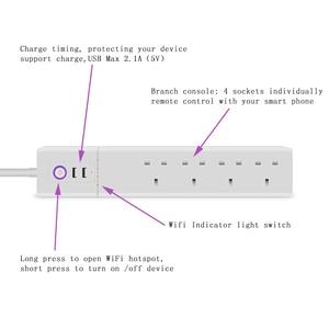 Image 2 - WiFi חכם כוח רצועת בריטניה מגן עם 4 דרך AC שקע 2 יציאת USB בית בקרת מתג תואם Alexa גוגל עוזר