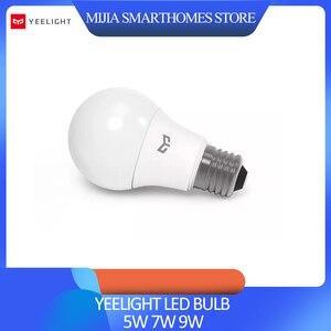 Image 1 - Xiaomi Yeelight LED 電球コールドホワイト 25000 時間の寿命 5 ワット 7 ワット 9 ワット 6500 18K E27 電球ライトランプ 220 用天井ランプ/テーブルランプ
