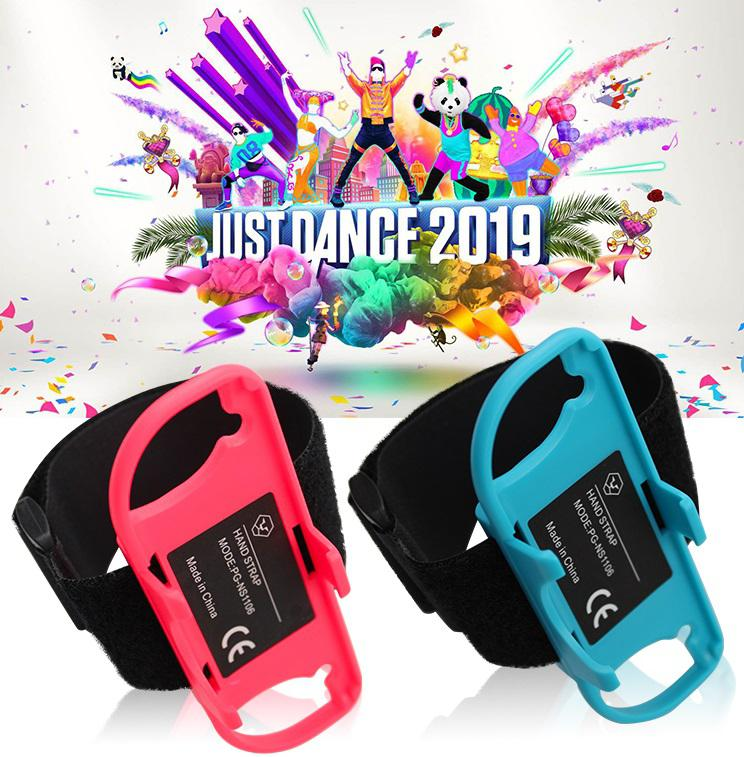 MeterMall 1 Pair Adjustable Elastic Dance Wrist Band Strap Wristband For Nintendo Nintend Switch Just Dance Joy-Con Controller