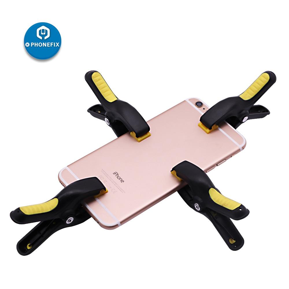 PHONEFIX 4pcs/set Universal Plastic Clip Fixture For IPhone IPad Mobile Phone LCD Display Screen Fastening Clamp Repair Tools