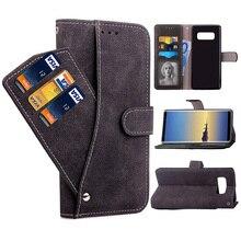 Flip Wallet Cover Phone Case Voor Samsung Galaxy Note 10 Plus S10 S10e Lite 8 9 S e 7 S9 s8 S7 Rand Note10 S10plus S9plus S8Plus