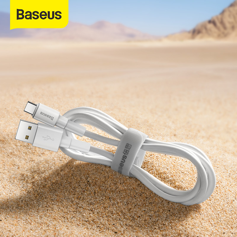 Baseus USB Type C Cable for Xiaomi Redmi Note 9s 8 Pro Micro USB Cable Fast Charging Cable Nylon Charger USB Dara Cable Cord 1