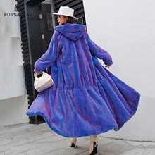 Fursarcar настоящая цельная кожа норка мех x длинное пальто