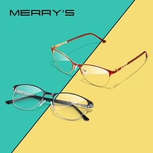 Image 1 - MERRYS DESIGN kobiety moda trendy kocie okulary pełna ramka panie krótkowzroczność okulary korekcyjne okulary optyczne S2110