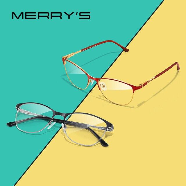 MERRYS DESIGN kobiety moda trendy kocie okulary pełna ramka panie krótkowzroczność okulary korekcyjne okulary optyczne S2110