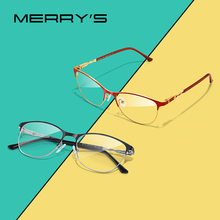 Merrys デザイン女性ファッショントレンド猫眼鏡フルフレーム女性近視眼鏡処方光学眼鏡 S2110