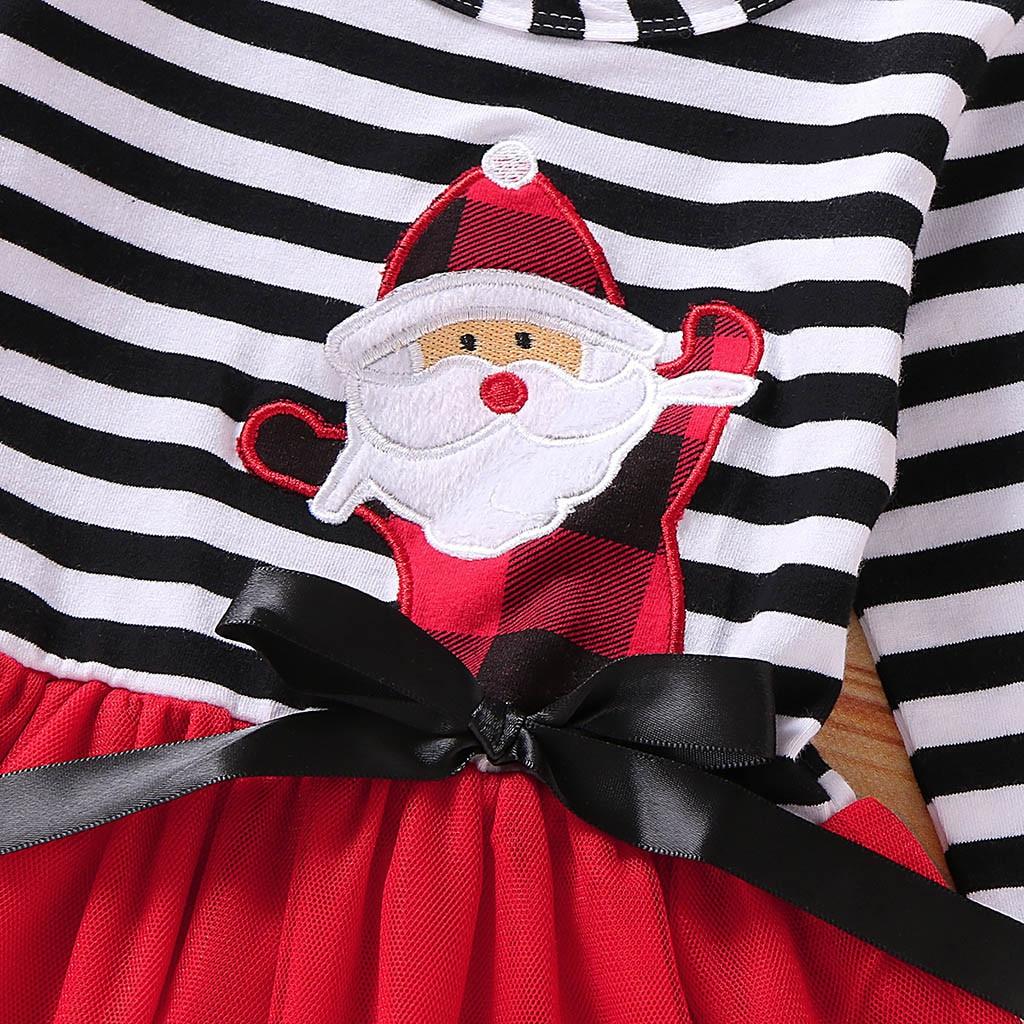 Hc717577b7d584114b63d889467c9707bM Toddler Girls Christmas Dress Santa Striped Print Tulle Dress+Headband Outfits Christmas Kids Dresses For Girls Vestido Infantil