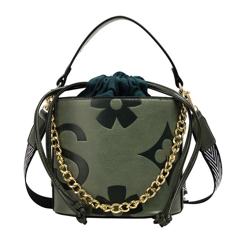 PU leather floral women vintage tote handbag children shoulder cross-body money bag phone pouch female bolsa feminina for girls