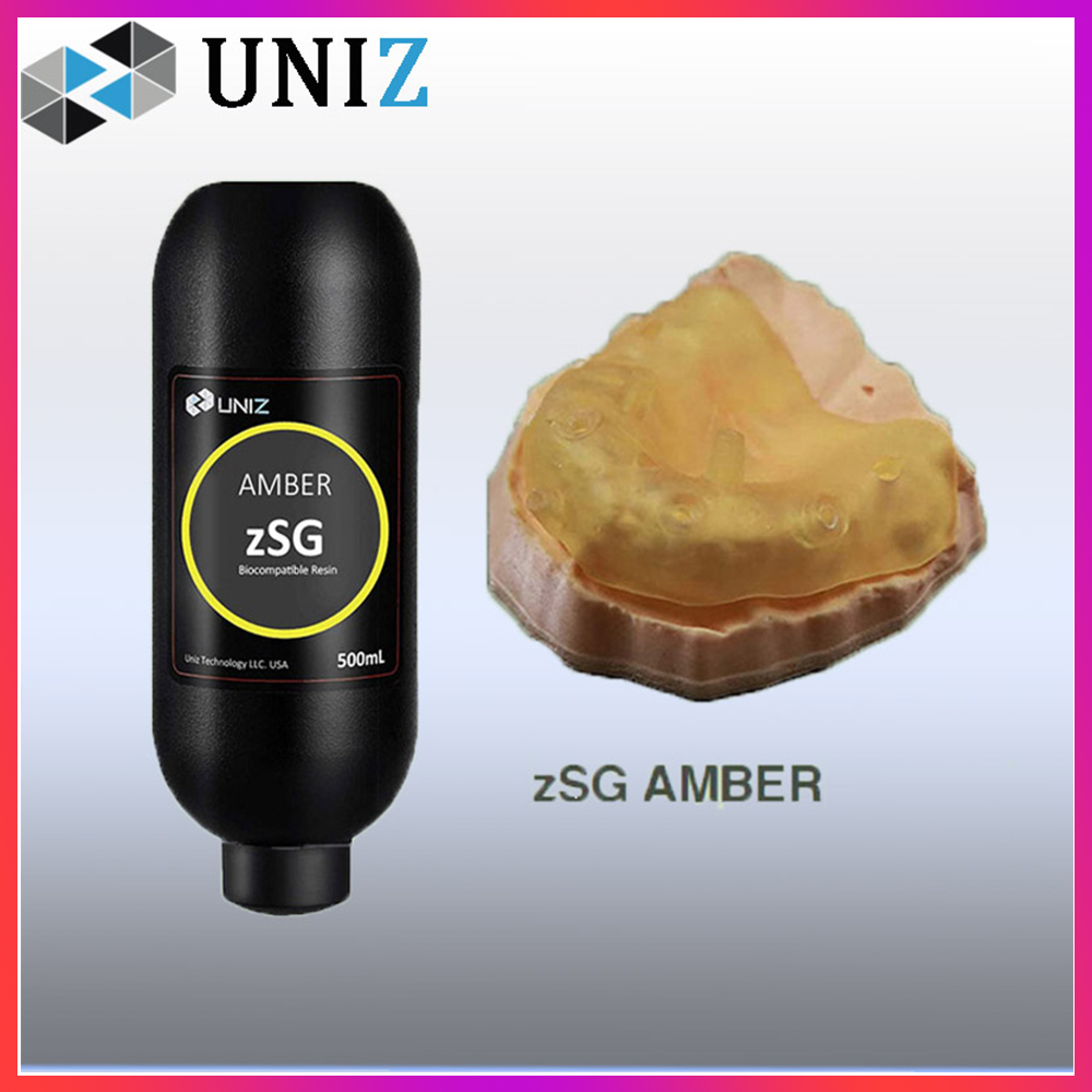UNIZ zSG Surgical Guide 3D Printer Resin LCD UV-Curing Photopolymer 405nm Resina - Amber 500ml In Stock