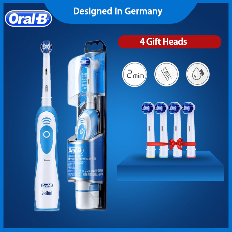 Oral B Sonic Electric Toothbrush Teeth Whitening Vitality Tooth Brush No-Rechargeable Battery Rotating Brush Teeth image