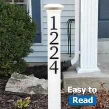 10cm Big Modern House Number Door Home Address Mailbox Numbers for House Number Digital Door Outdoor Sign 4 Inch. #0-9 Black