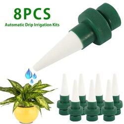 8 sztuk automatyczne nawadnianie podlewanie Spike dla roślin kwiat kryty gospodarstwa domowego automatyczne nawadnianie kroplowe System nawadniania Waterer