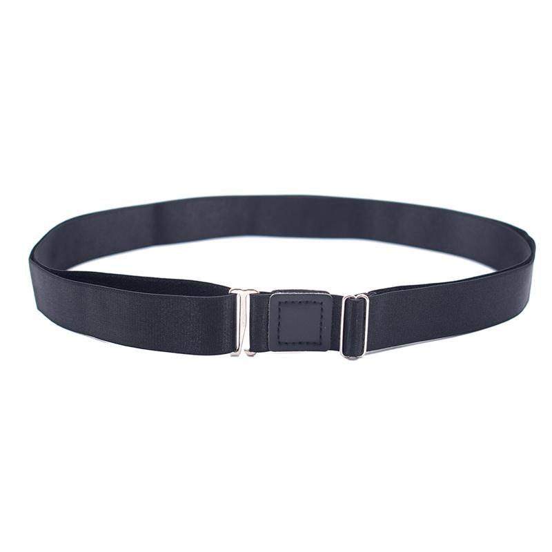 Shirt Belt Stay Adjustable Shirt Lock Undergarment Belt for Men and Women Keeping Shirt Tucked in - 2.5CM (Black)