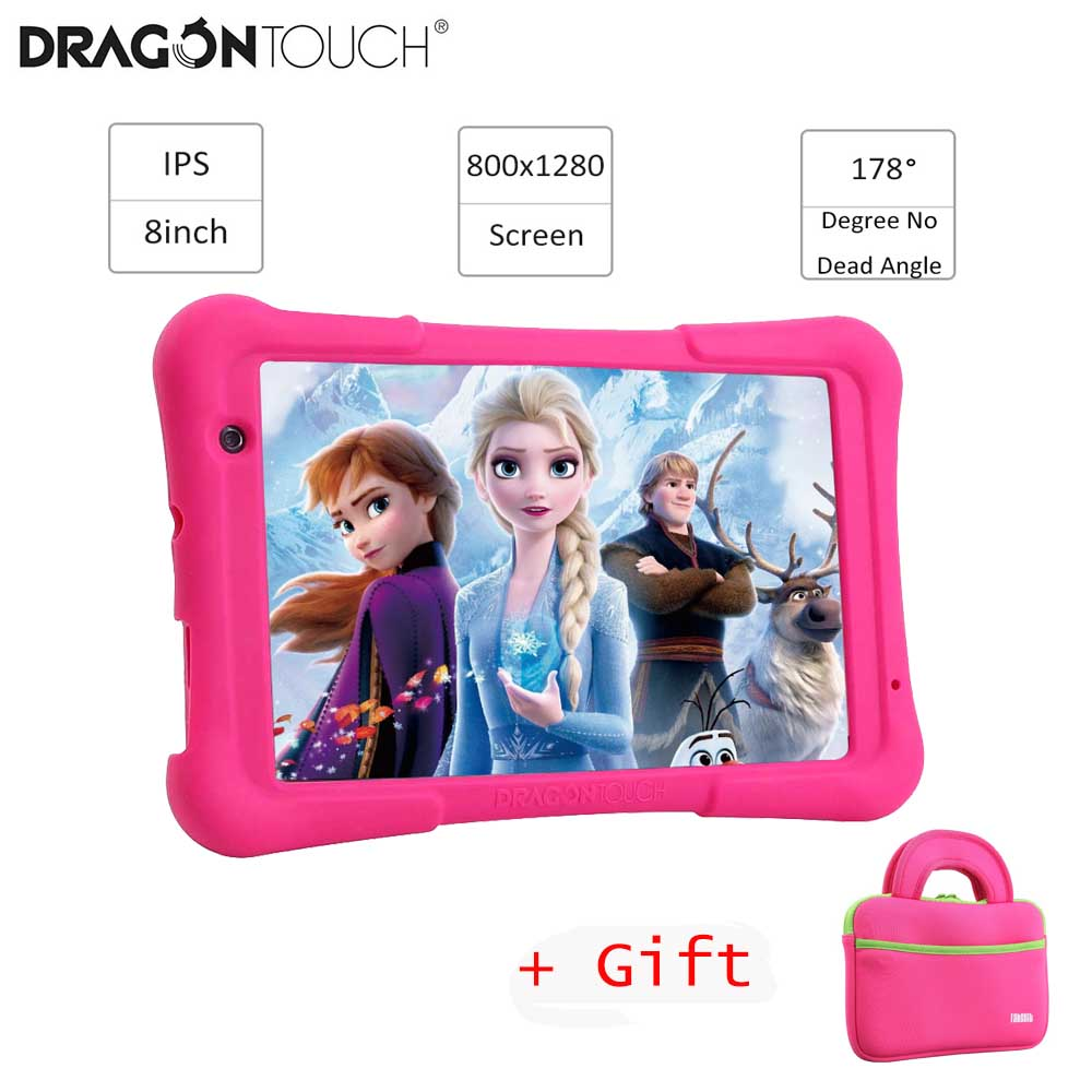 2019 Dragon Touch Y80 Kids Tablet 8 inch HD Display Android Tablet for Children 16GB Quad core 1.5GHz USB Android 8.1 tablet PC image