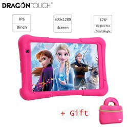 2019 dragón contacto Y80 Tablet 8 pulgadas HD pantalla Android tableta para los niños de 16GB Quad core USB de 1,5 GHz Android 8,1 Tablet PC