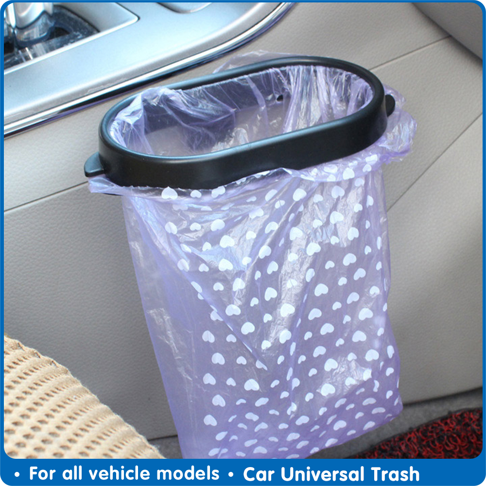 Car Universal Trash Can Frame Portable Car Trash Bin Holder Automobile Garbage Bag Holder Car Interior Accessories