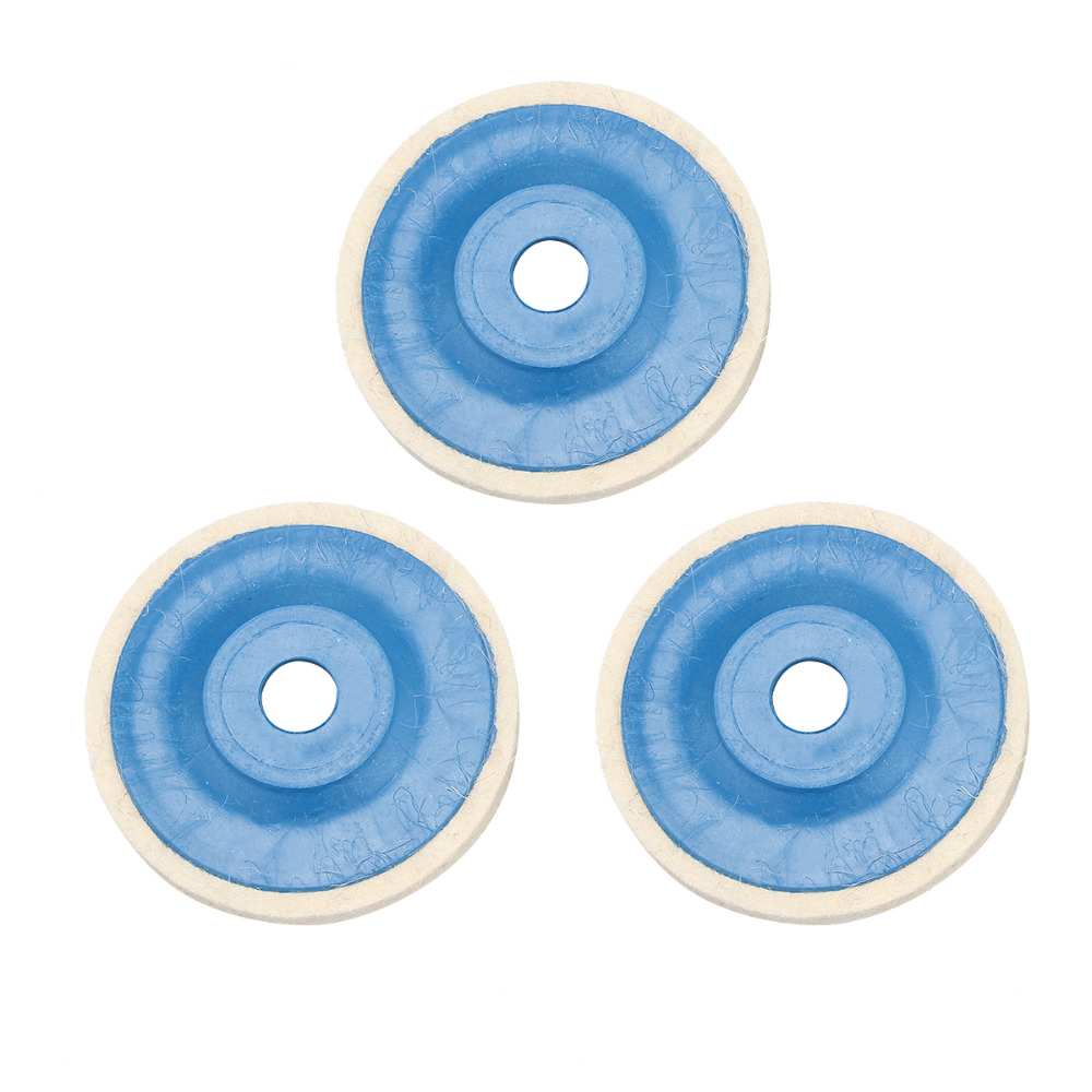 3pcs 4Inch Wool Polishing Pads Buffing Angle Grinder Wheel Felt Polishing Disc Pad Set For Metal Marble Glass Ceramics