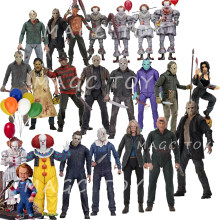NECA 3D 금요일 제 13 회 Jason Leatherface Chainsaw Chucky Michael Myers 프레디 크루거 IT Pennywise Joker 액션 피규어 장난감 인형(China)