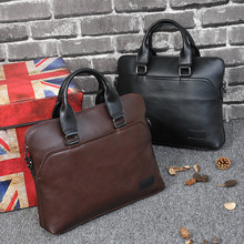 Business office Briefcase Men Brand Leather Tote Computer La