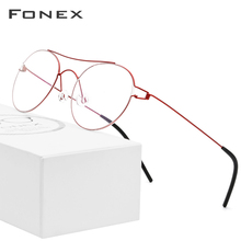 Titanium Alloy Optical Glasses Frame Women Vintage Myopia Prescription Eyeglasses Men Red Korean Denmark Screwless Eyewear screwless eyewear prescription eyeglasses women ultralight 2018 round myopia optical denmark korean glasses frame men titanium