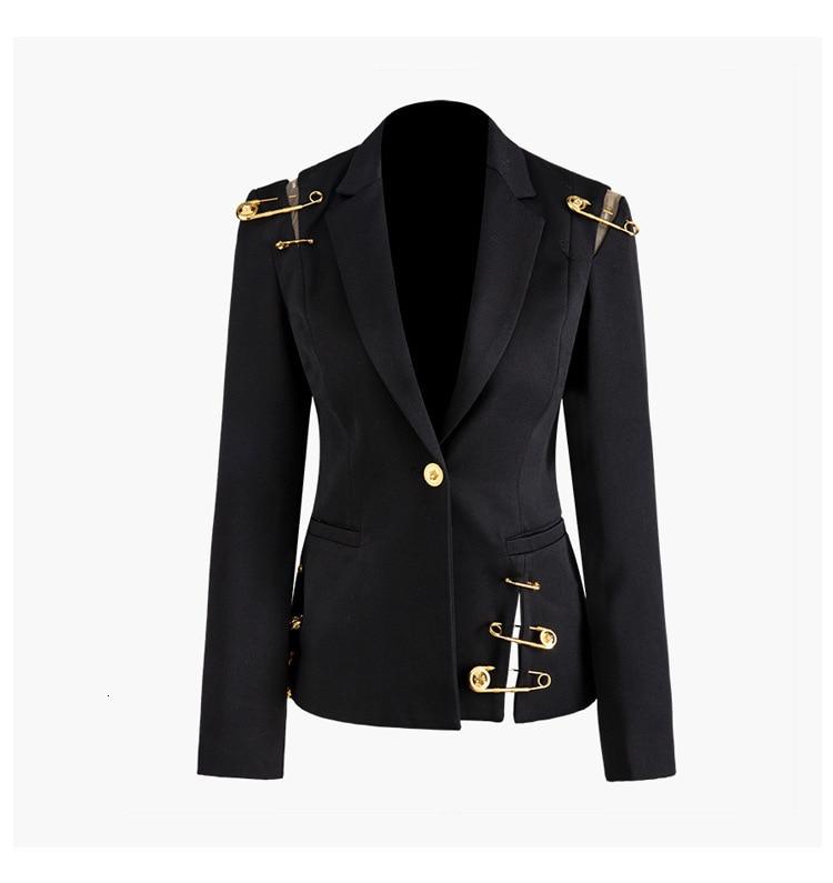 Hc718ccaf3a2e4e5c98e74f741ca8ca31X [EAM] Loose Fit Black Hollow Out Pin Spliced Jacket New Lapel Long Sleeve Women Coat Fashion Tide Autumn Winter 2019 JZ500