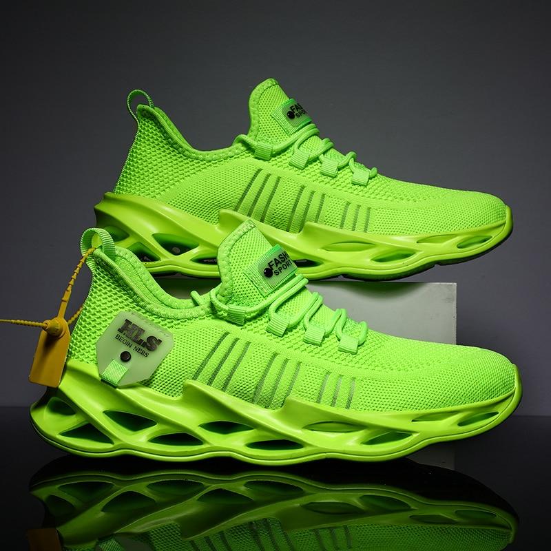 Novo respirável tênis de corrida 46 luz sapatos esportivos dos homens 45 grande tamanho confortável tênis moda andando sapatos casuais