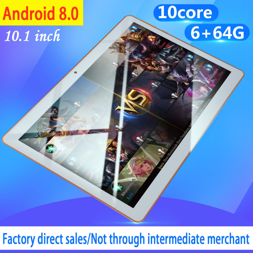 10 Inch Android8.0 Tablet Pc Octa Core Original Powerful 6GB RAM 64GB ROM IPS Dual SIM Phone Call Tab Phone Pc Tablets 2020