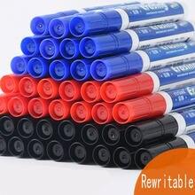 40 pces extra grande capacidade apagável preenchido whiteboard caneta escritório reunião à base de água marcador caneta vermelho azul preto verde opcional
