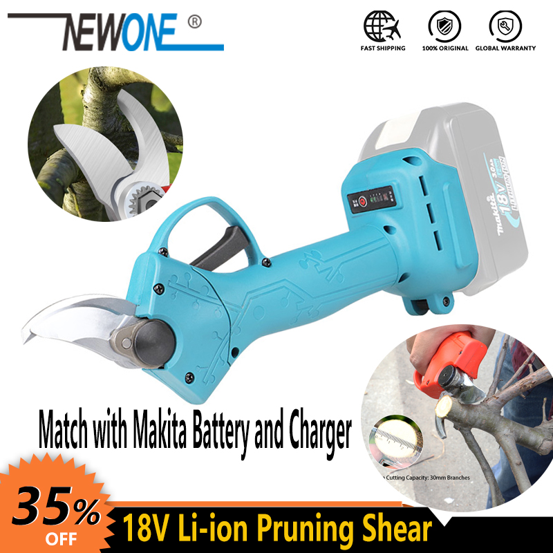Shears Gardening-Plant-Scissor Makita Battery NEWONE Cordless Trimmer 20V Secateur Branch