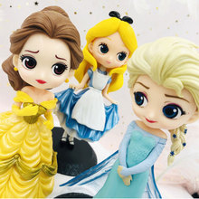 Real Anna lovely white snow princess mermaid Alice Cinderella doll model toys cake jewelry child collection gift free shipping