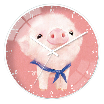 Glass Pink Wall Clock Kids Bedroom Cute large kitchen Modern Design Wall Clocks Decorative unique living room Home Decor II50BGZ