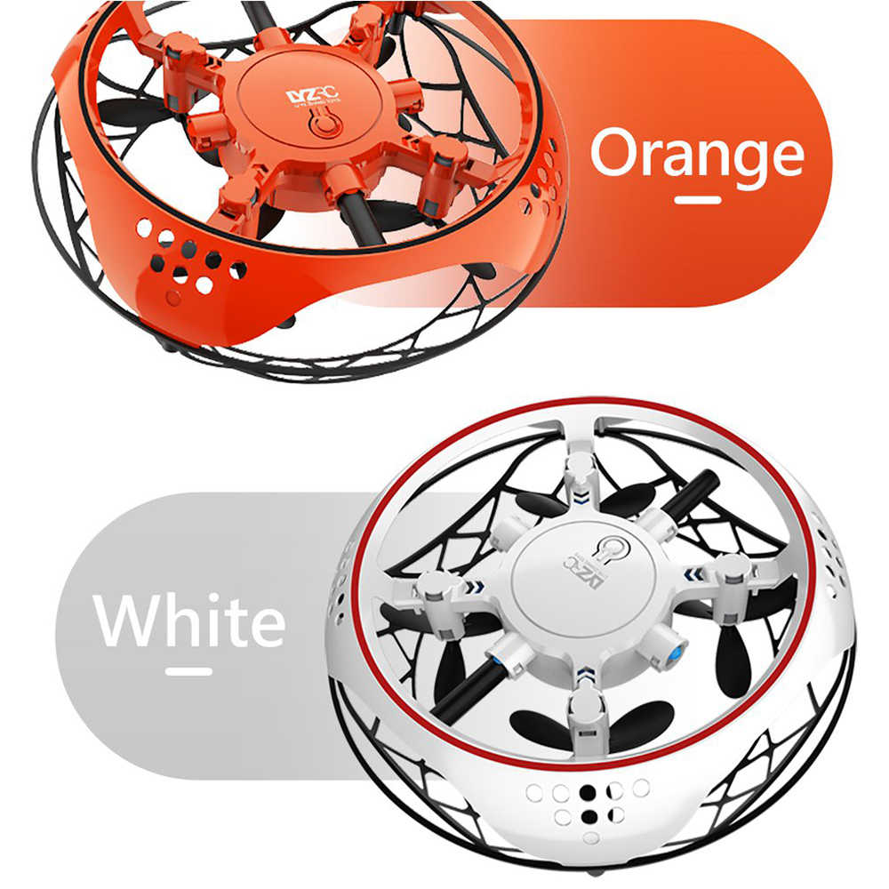 UFO Drone Infrarood Sensing Control RC Quadcopter Inductie Hoogte Hold Mini Intelligente Inductie Cool LED Vliegtuigen kid gift