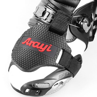 Black Motorcycle Shoes Protective Motorbike Moto Gear Shifter Men Shoe Boots Protector Shift Sock Boot Cover Shifter Guards|Motocycle Boots| |  -