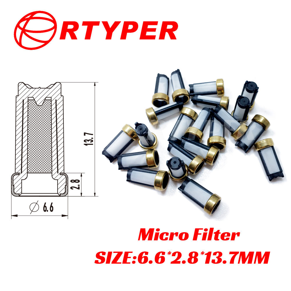 100pcs Fuel injector micro filter  top feed mpi auto parts  Size 16.3*6.6mm