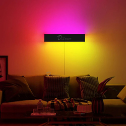 Modern RGB LED Wall Lamp for Home Decoration,Living Room Bedroom Wall Light Colorful Indoor Office Cafe Lighting Fixtures