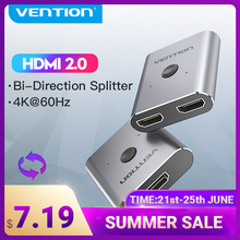Tions HDMI Switcher 4K Bi-Richtung 2 in 1 out HDMI 2,0 Adapter für PS4 TV Box 1x 2/2x1 HDMI Switcher HDMI-kompatibel Splitter