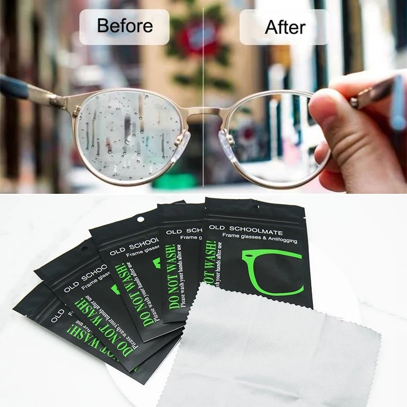 5pc Anti-fog Suede Glasses Cloth Reusable Microfiber Anti-fog Glasses Cloth Glasses Lens Anti-fog Mobile Phone Cleaning Wipes